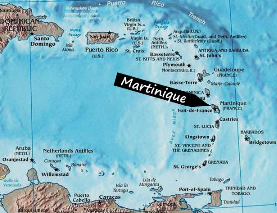 Image result for martinica caribe map