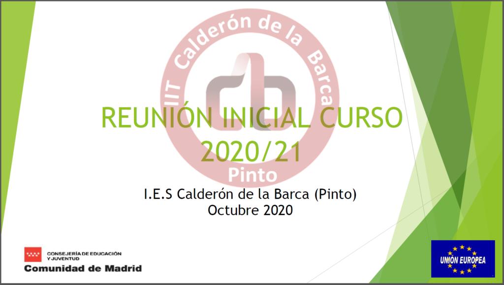 Presentación Reunión Inicial de Curso 2020-2021